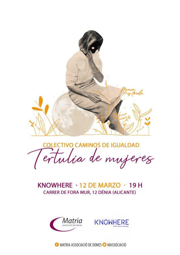 Imagen: Cartel de la tertulia Caminos de Igualdad