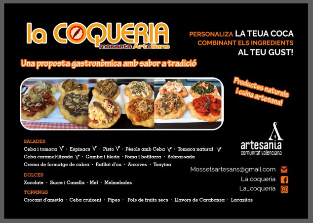 Image: Poster on the flavors and ingredients of La Coquería cocas
