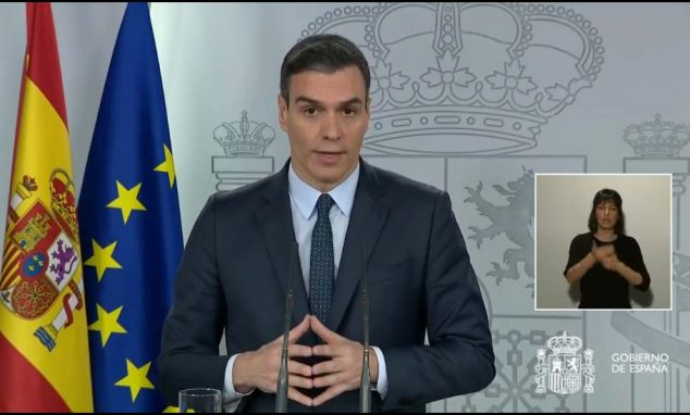 Image: Appearance of Pedro Sánchez