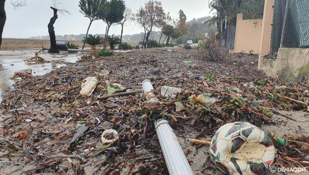 Imagen: Destrozos de Gloria en la Marineta Cassiana