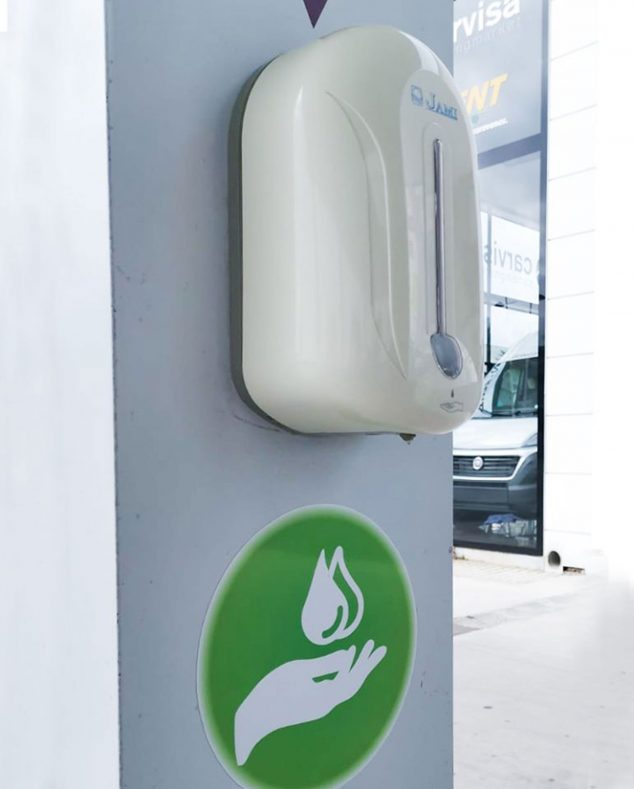 Image: Hand sanitizer installed at Teckmar Gas Stations