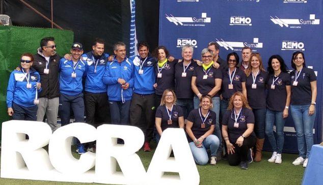 Image: Veterans team of CR Marina de Dénia on the podium