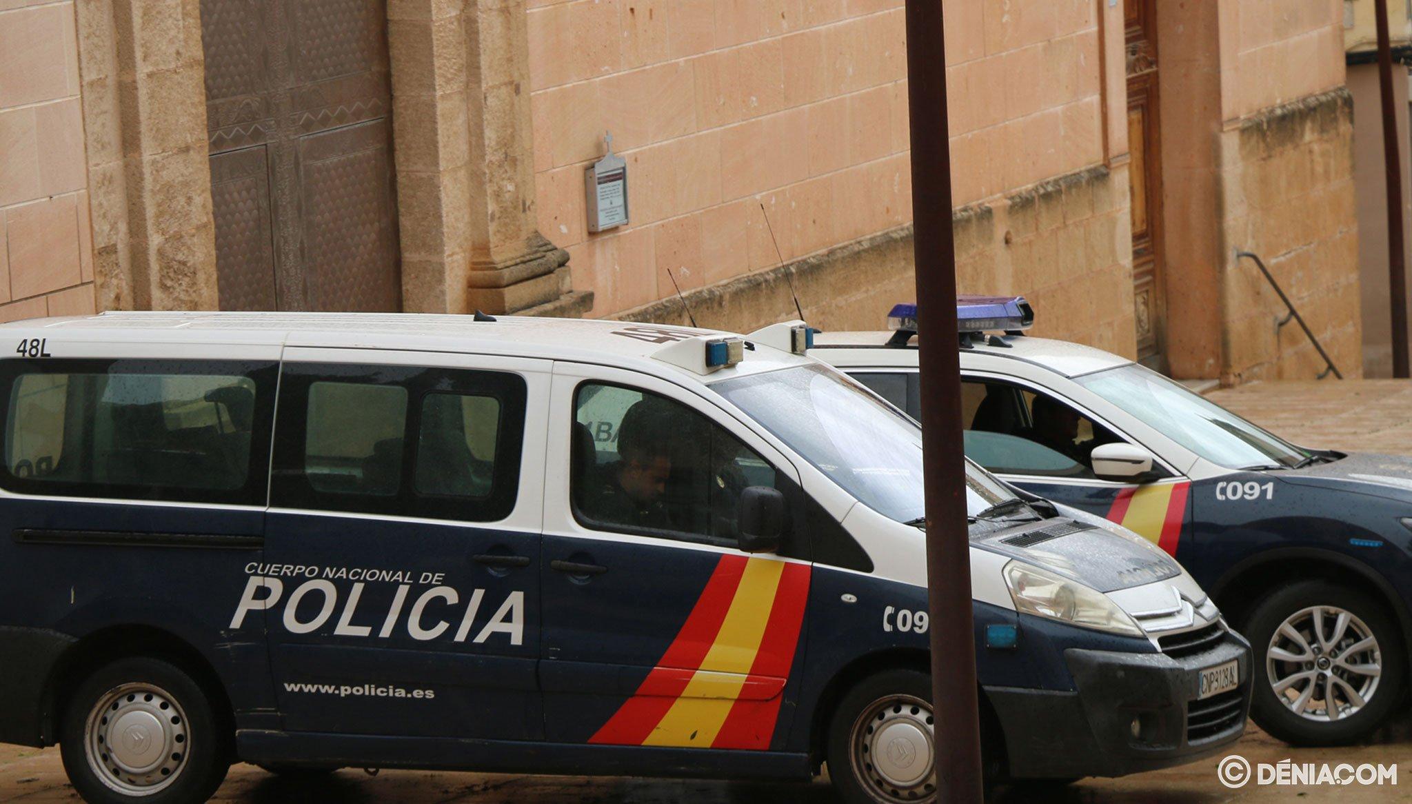 Fotografia Stock: Volanti della polizia nazionale