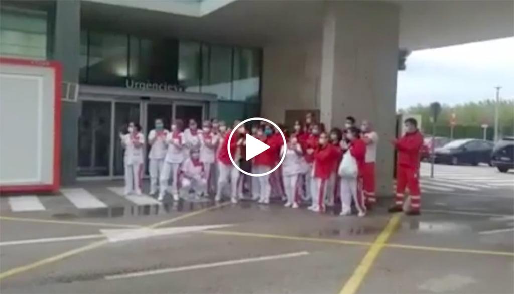 Homenatge a l'equip de neteja de l'Hospital de Dénia