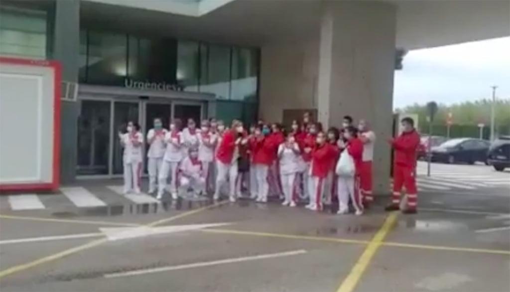 Omaggio al servizio di pulizia dell'ospedale