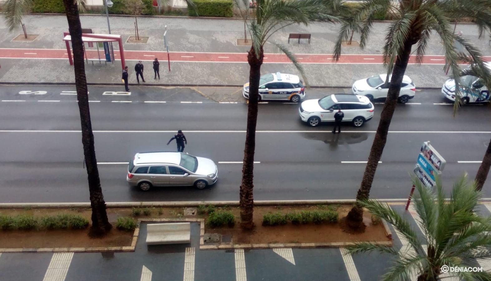 Intervenció de la policia a l'Esplanada Cervantes