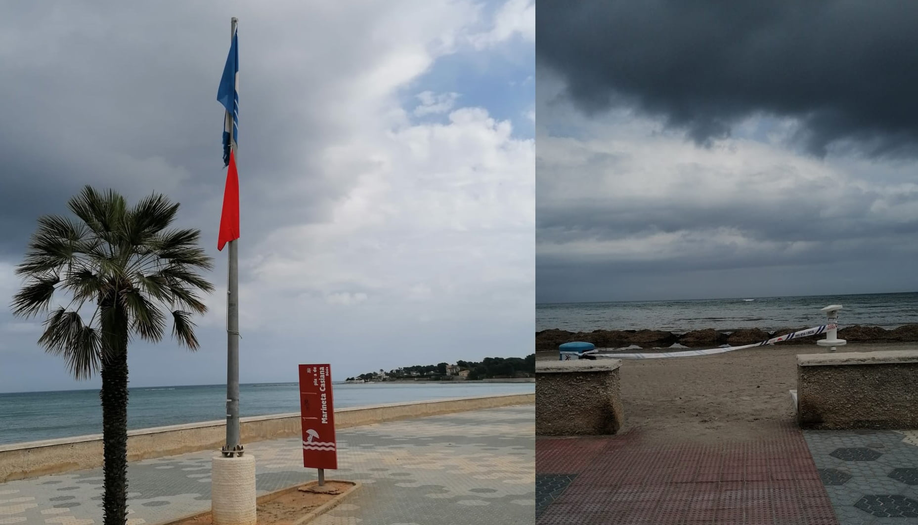 Le spiagge di Denia sono chiuse