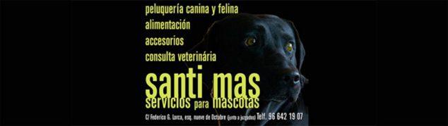 Imagen: Logotipo Santi Mas - Servicios para mascotas