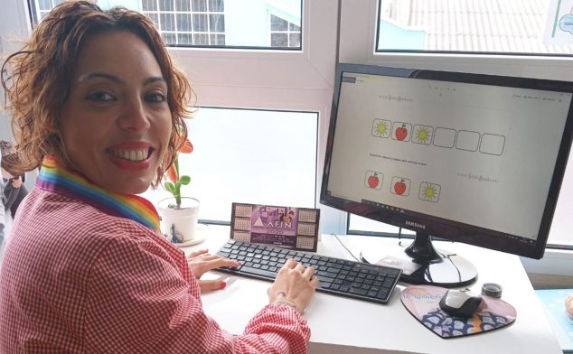 Image: Mónica Santos, teacher of three-year-olds Early Childhood Education, at CEIP Montgó in Dénia