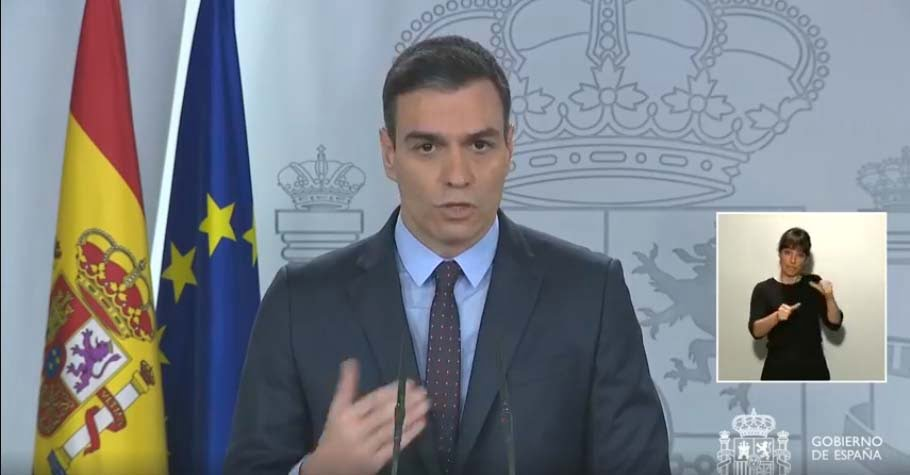 Pedro Sánchez all'apparizione