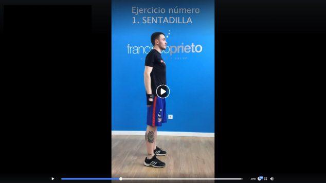 Imatge: Francisco Prieto Studio t'ajuda penjant entrenaments per cuidar-durant la quarantena