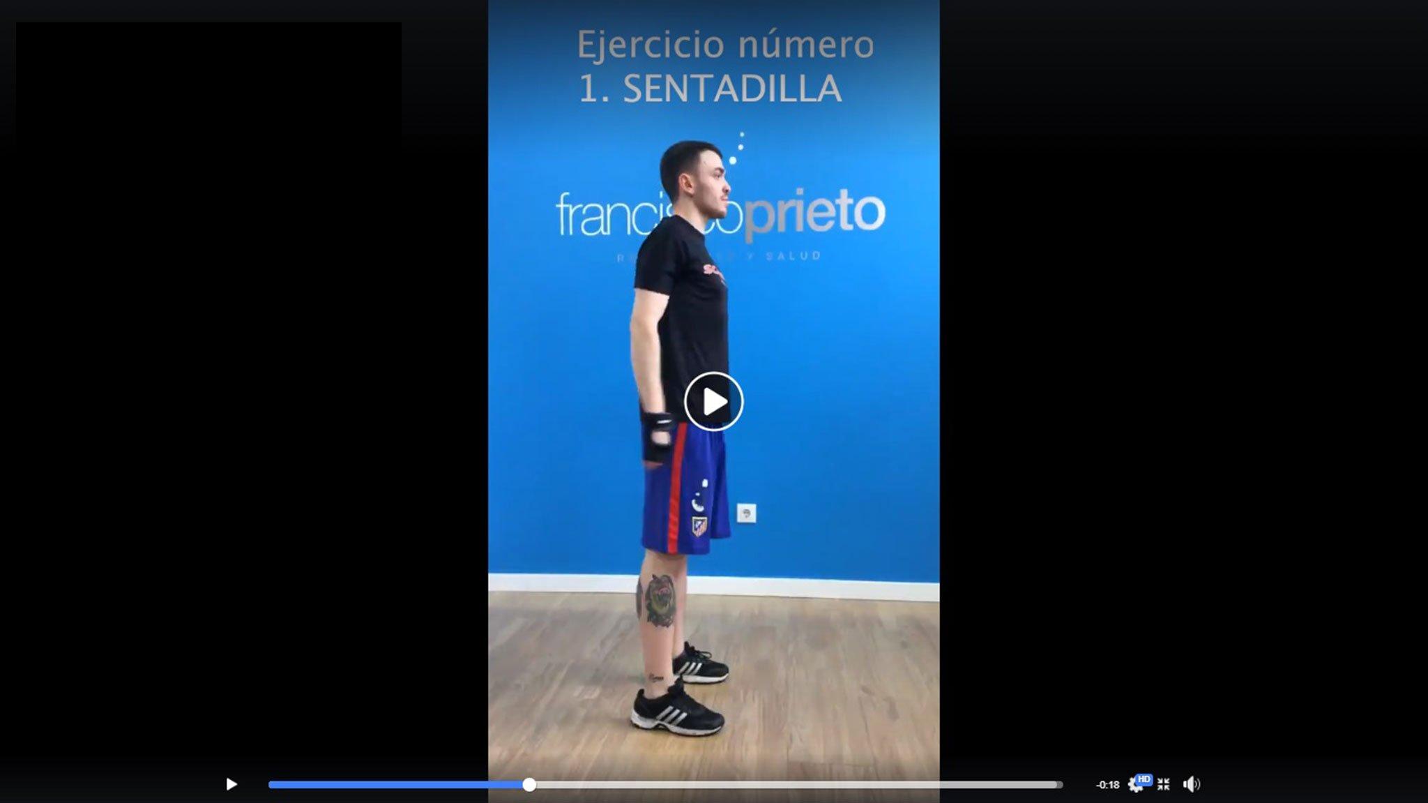 Франциско Прието Студия помогает вам, проводя тренировки, чтобы заботиться о вас во время карантина