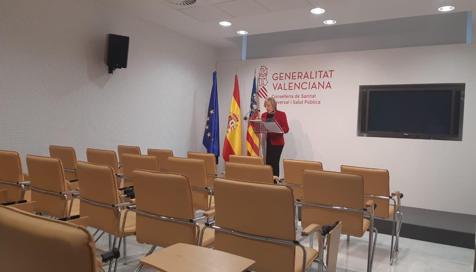 Roda de premsa d'Ana Barceló