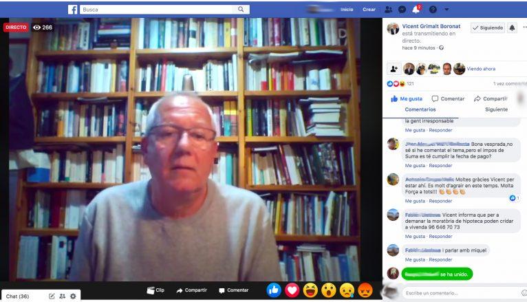 Vicent Grimalt responde las dudas de los vecinos a través de Facebook