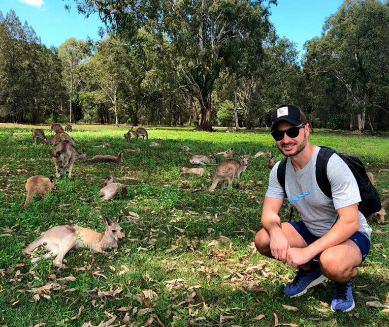An emblem in Australia, kangaroos