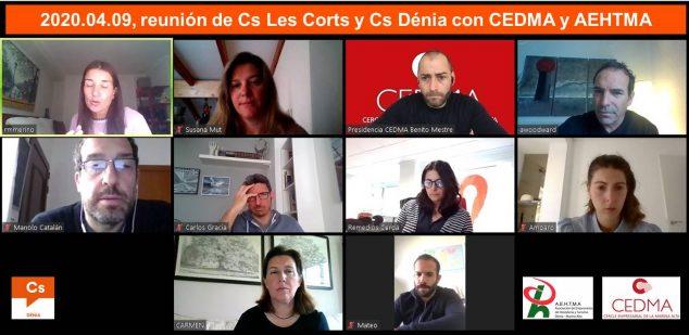 Imatge: 2020.04.09, Reunió CEDMA, AEHTMA, Cs Les Corts i Dénia