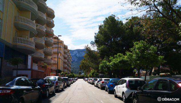 Imagen: Calle Ibn al-Labbana, vista desde Joan Chabás hacia Joan Fuster