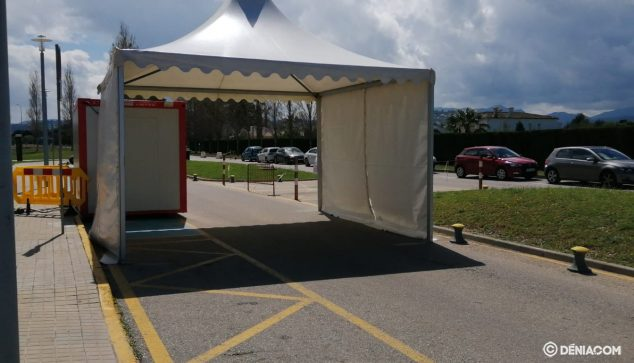 Image: Tent for rapid testing of COVID-19
