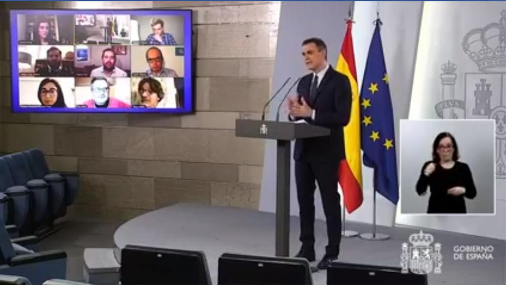 Apparizione di Pedro Sánchez