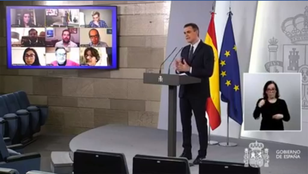 Compareixença de Pedro Sánchez