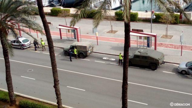 Imagen: Control del ejército en Dénia