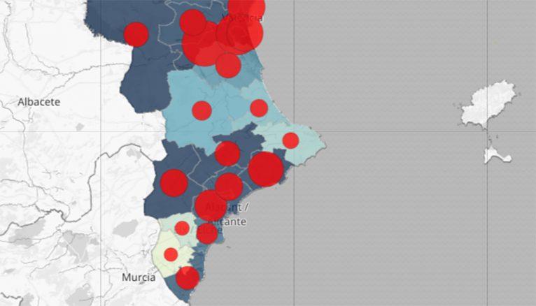 Datos de coronavirus en el Departamento de Salud de Dénia el 27 de abril