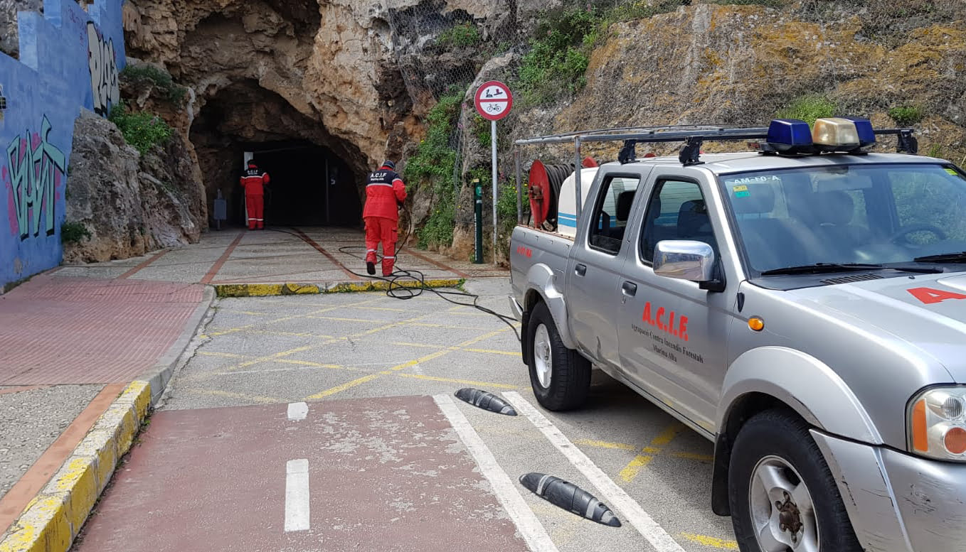 Disinfection in the castle tunnel