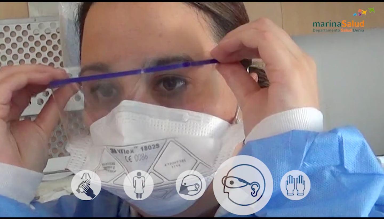 Fotograma del vídeo difundido por el Hospital de Dénia