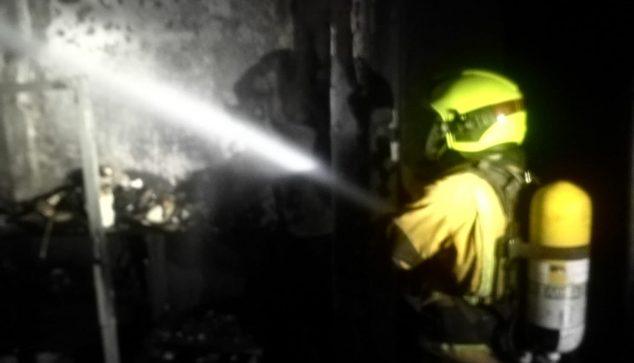 Imagen: Incendio en Gata