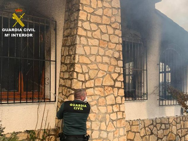 Image: House fire in Moraira