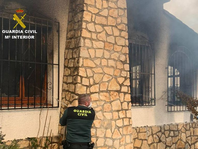 House fire in Moraira