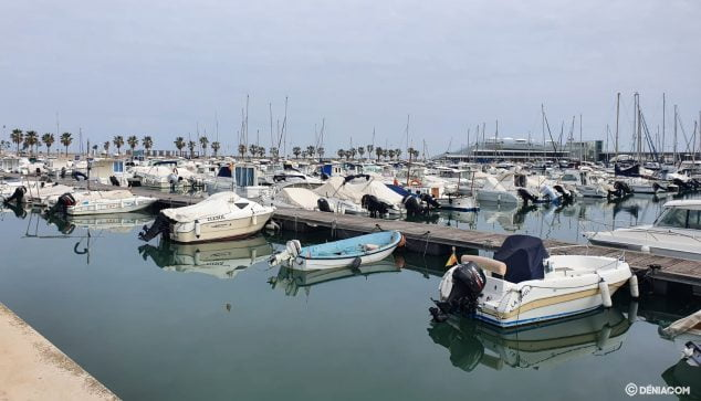 Image: The boats moored in Dénia