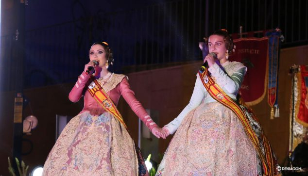 Image: The Falleras Mayores of 2020 during the Crida
