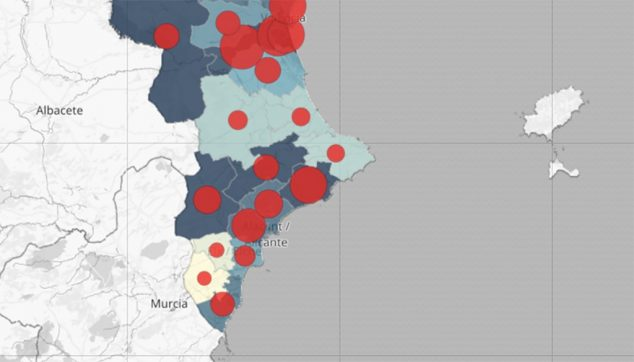 Image: Map of infections in the community on April 16