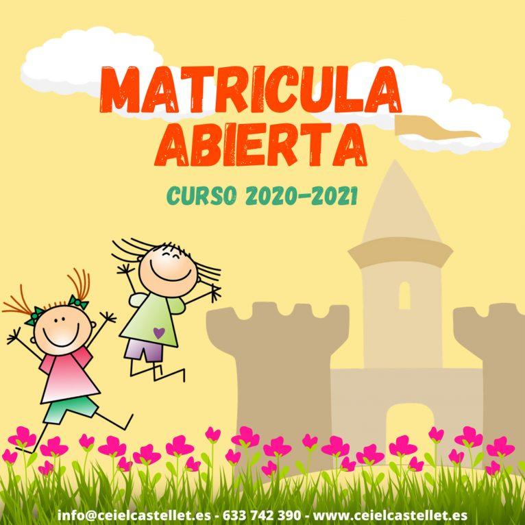 Matrícula oberta a CEI El Castellet