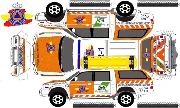 Imatge: Plantilla vehicle Protecció Civil