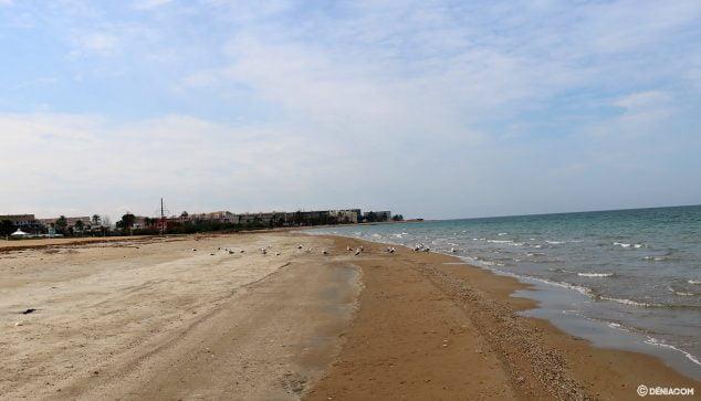 Imagen: Playa Punta del Raset durante el estado de alarma