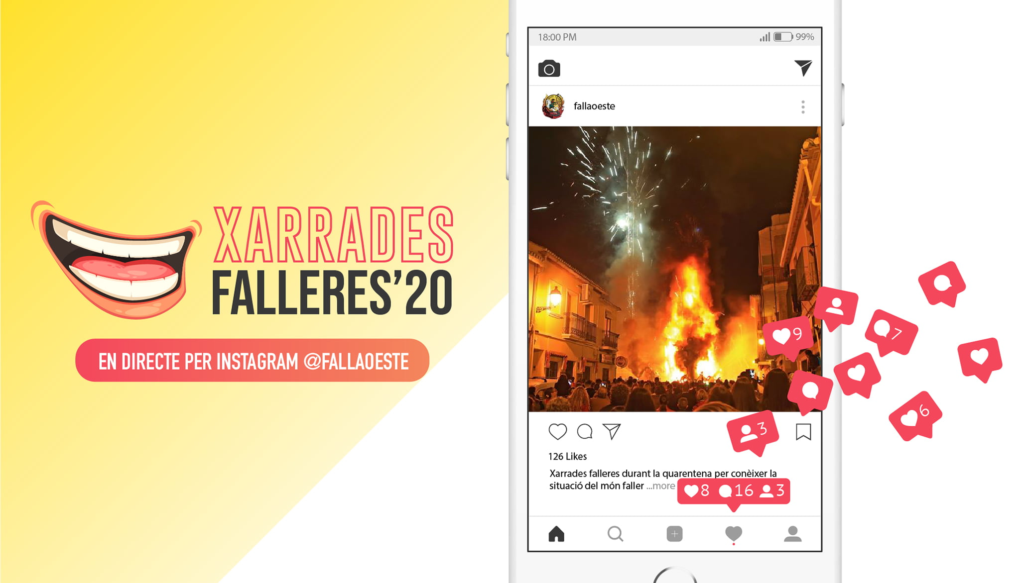Portada Xarrades Falleres Instagram Falla Oeste 2020