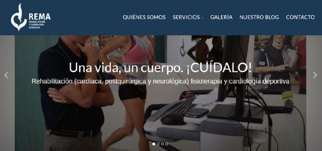 Imagem: Vista da nova página REMA (Rehabilitation Marina Alta)