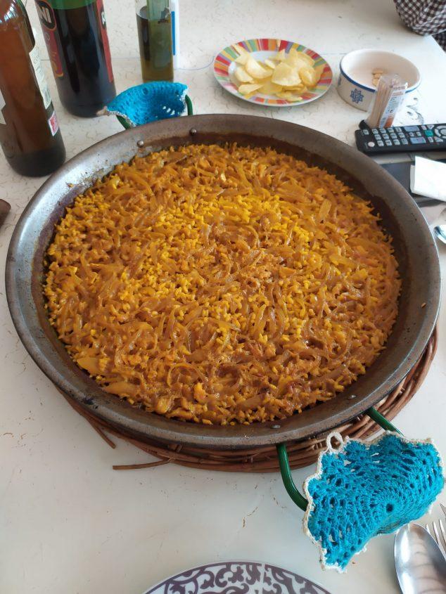 Image: Rosa Mari Arlandis - cod and onion paella