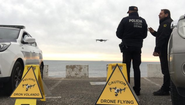 Image: Surveillance with drone on the coast of Dénia