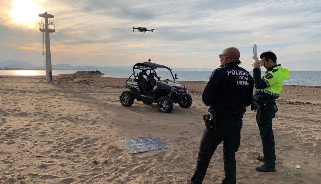 Imagen: Vigilancia por dron de la playa