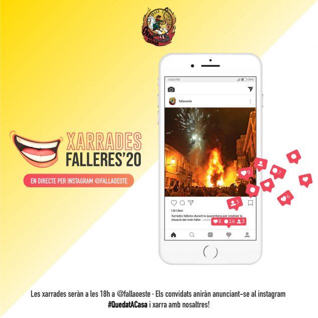 Imatge: Xarrades falleres Instagram Falla Oeste 2020-01