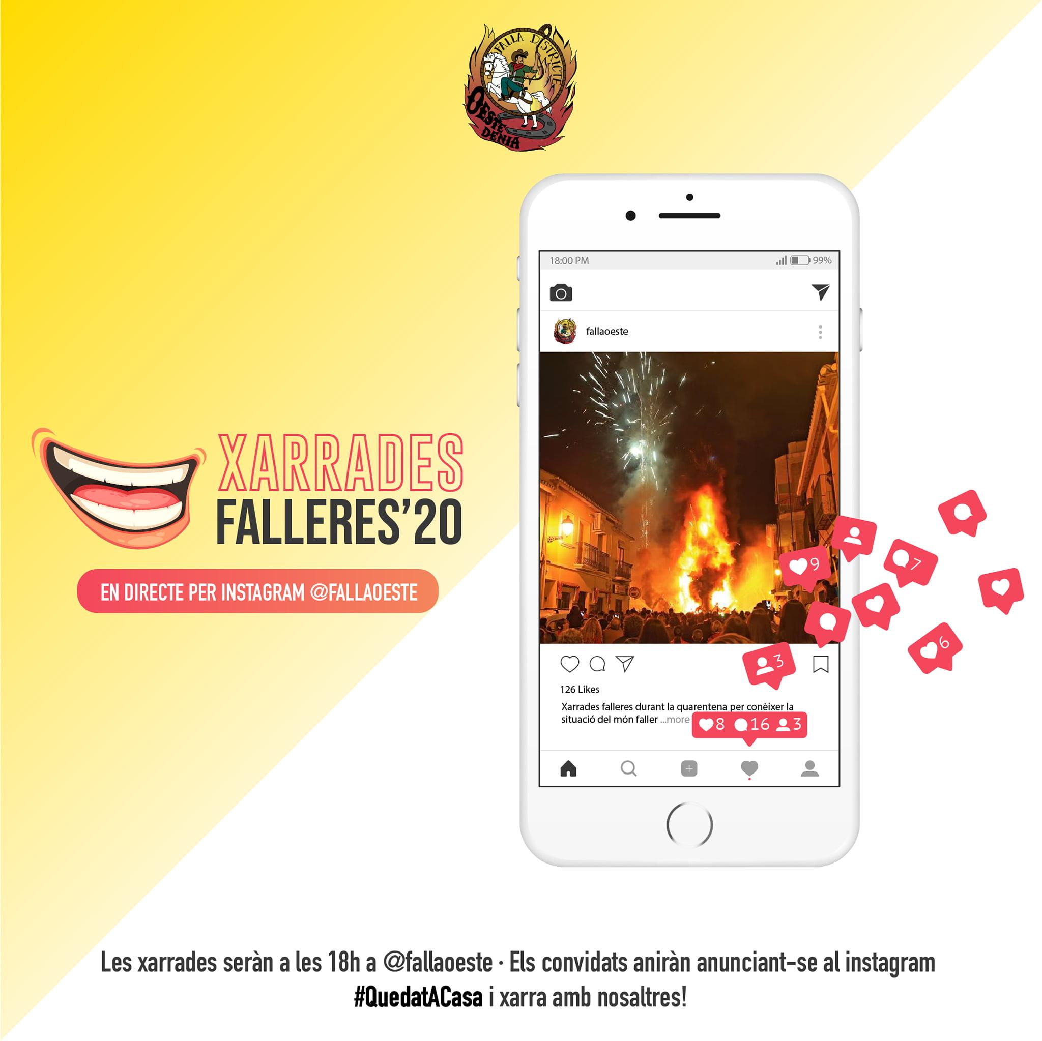 Xarrades Falleres Instagram Falla Oeste 2020