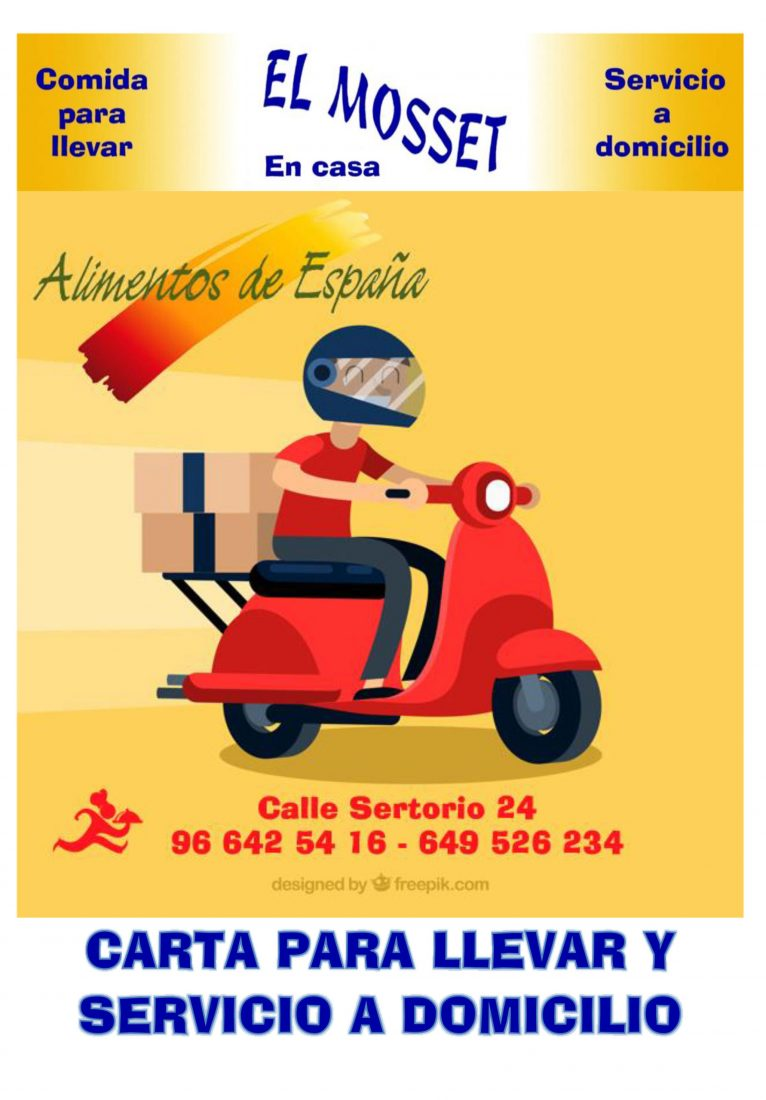 Take away and home service of El Mosset