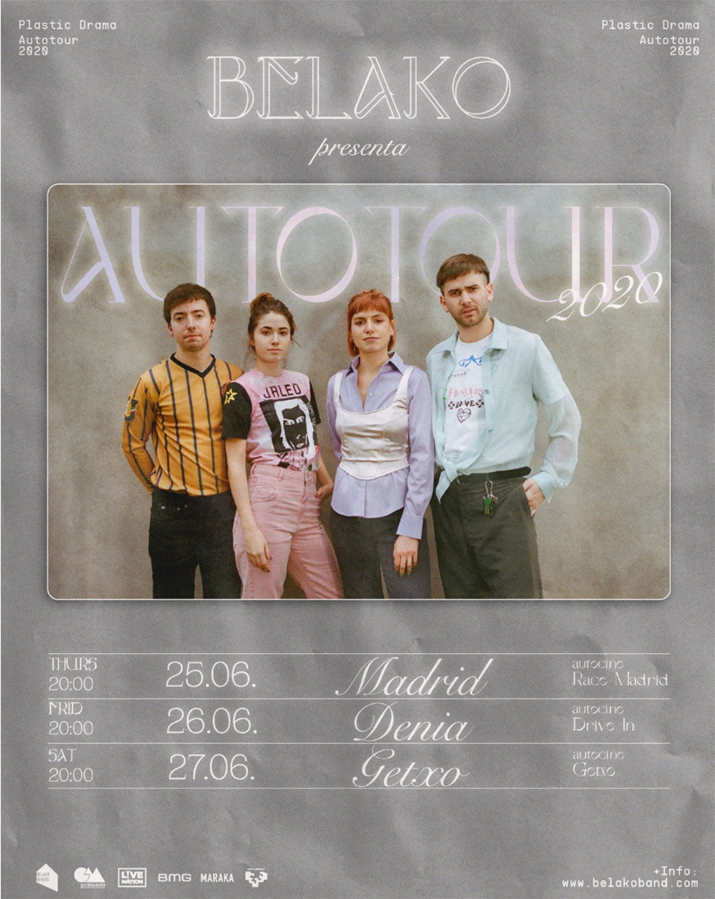 Belako drive-in tour poster copy