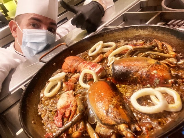 Image: Chef Marco Antonio Blanquer working during this health crisis