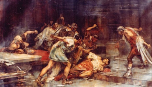 Image: Painting 'The death of Sertorio', by Vicente Cutanda (Source: Wikimedia Commons)