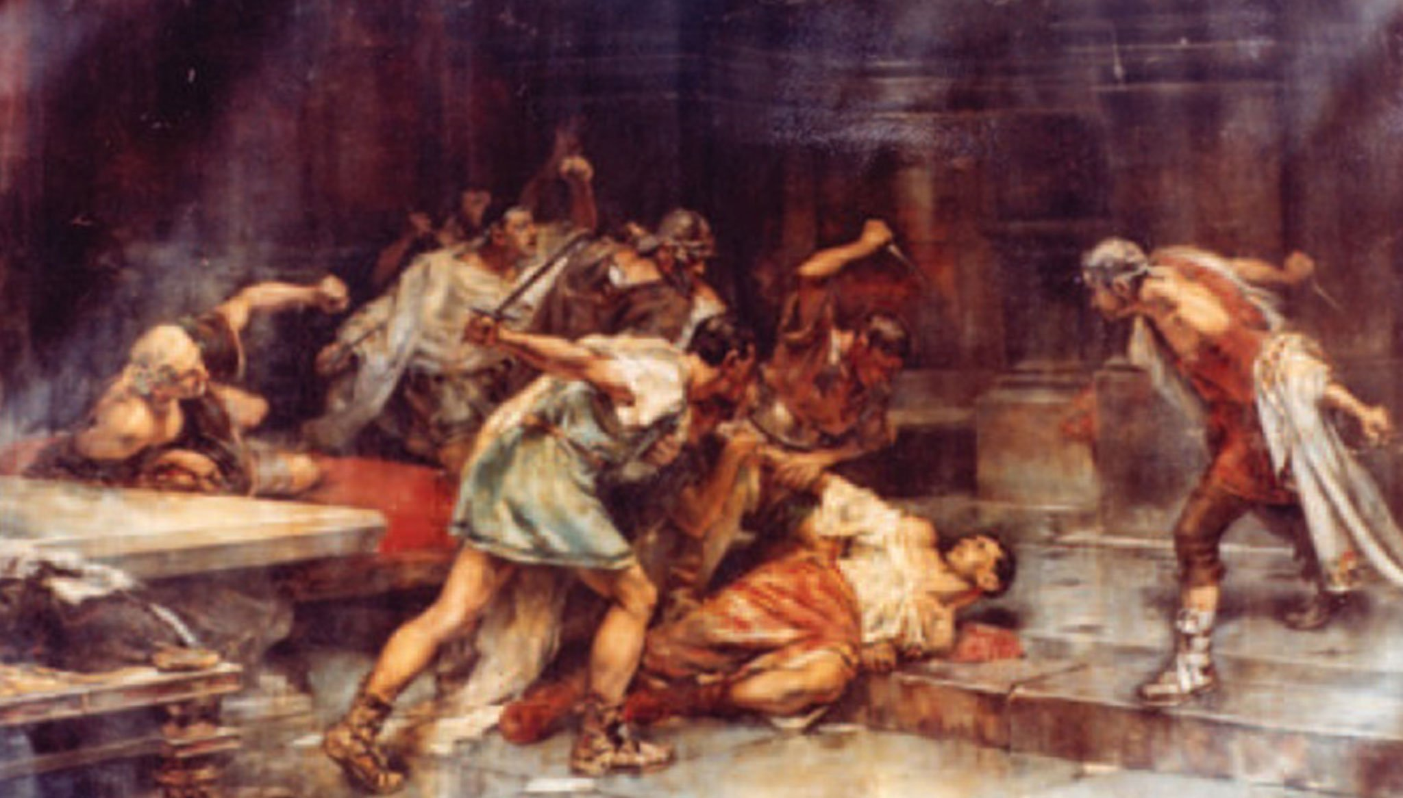 """Table """"The death of Sertorio"""", by Vicente Cutanda (Source: Wikimedia Commons)"""