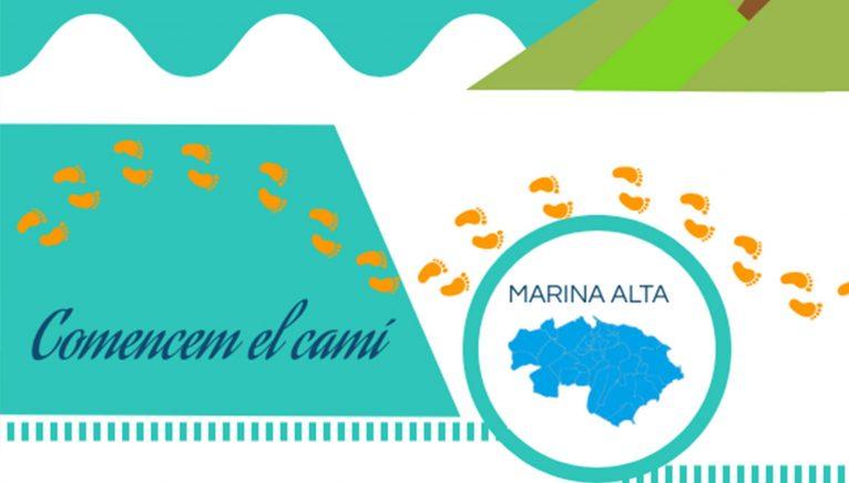 Detalle del cartel informativo sobre el proyecto Passaport Marina Alta